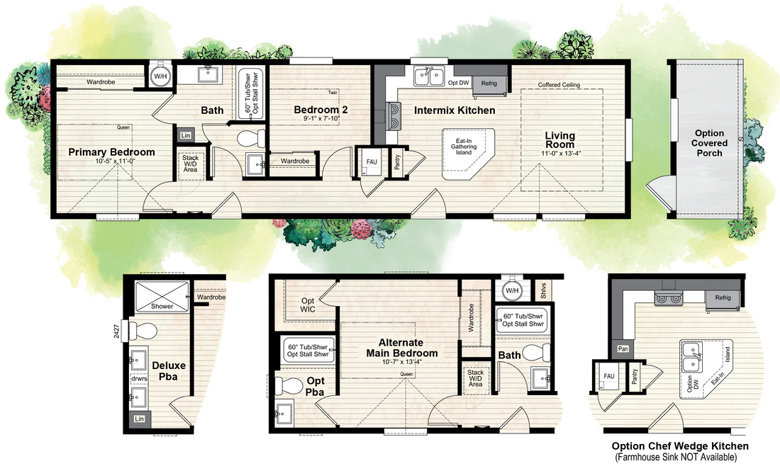 The GPII 1452-2A SAN DIEGO Floor Plan