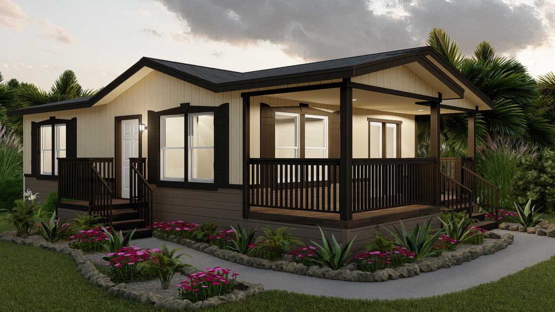 The GPII 2433-2A SANTA ROSA Exterior. This Manufactured Mobile Home features 2 bedrooms and 1 bath.