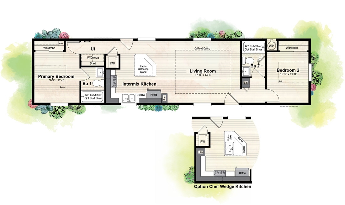 The GPII 1460-2B POINT LOMA Floor Plan