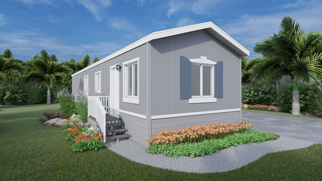 The GPII 1236-1B SEASIDE Exterior. This Manufactured Mobile Home features 1 bedroom and 1 bath.