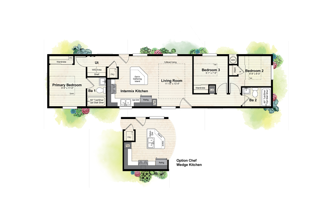 The GPII 1460-3B ENCANTO Floor Plan