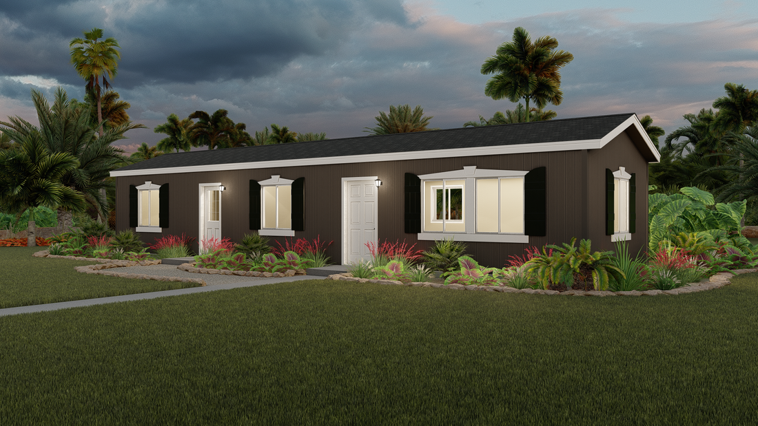 The GPII 1248-2A POWAY Exterior. This Manufactured Mobile Home features 2 bedrooms and 1 bath.