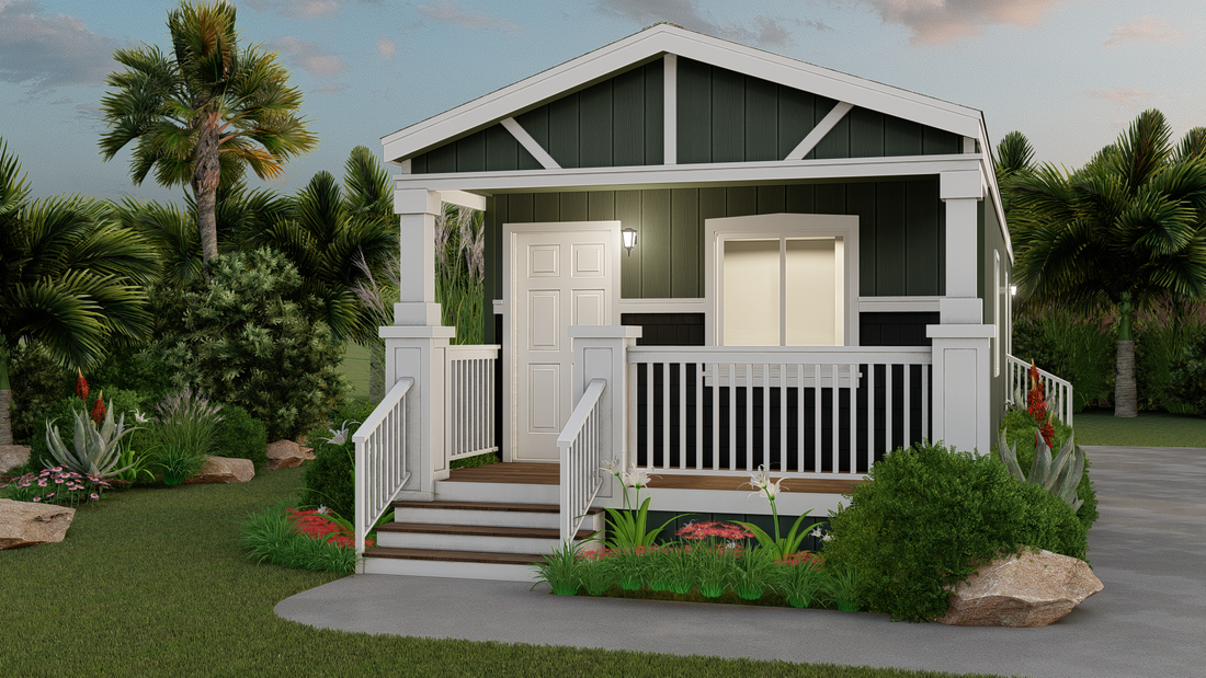The GPII 1436-1B PISMO Exterior. This Manufactured Mobile Home features 1 bedroom and 1 bath.