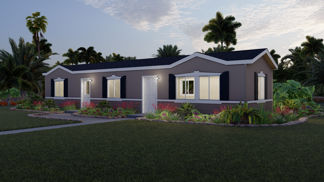 The GPII 1460-2A DEL CERRO Exterior. This Manufactured Mobile Home features 2 bedrooms and 2 baths.