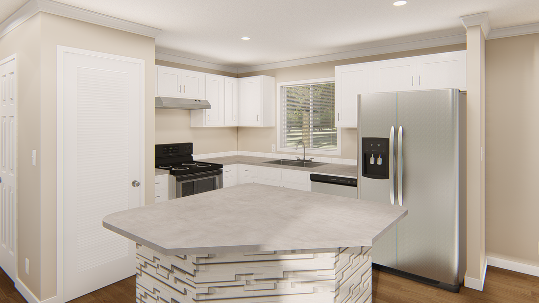 The GPII 1460-2A DEL CERRO Kitchen. This Manufactured Mobile Home features 2 bedrooms and 2 baths.