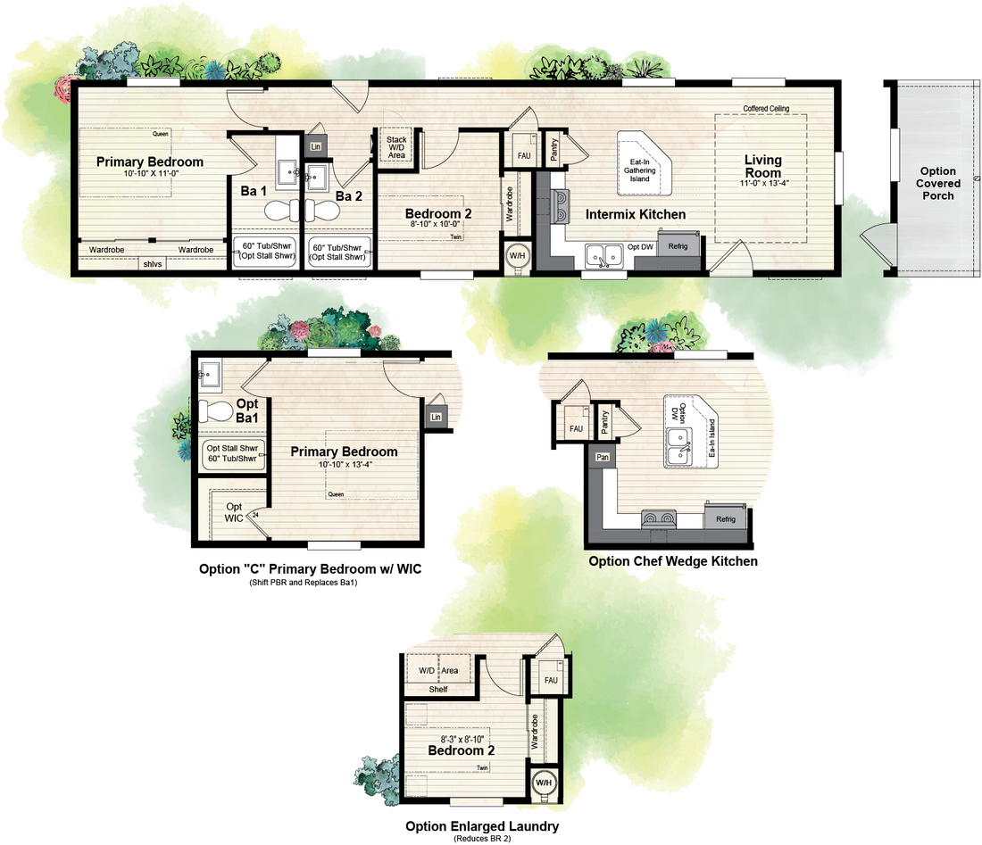 The GPII 1456-2C NEWPORT Floor Plan