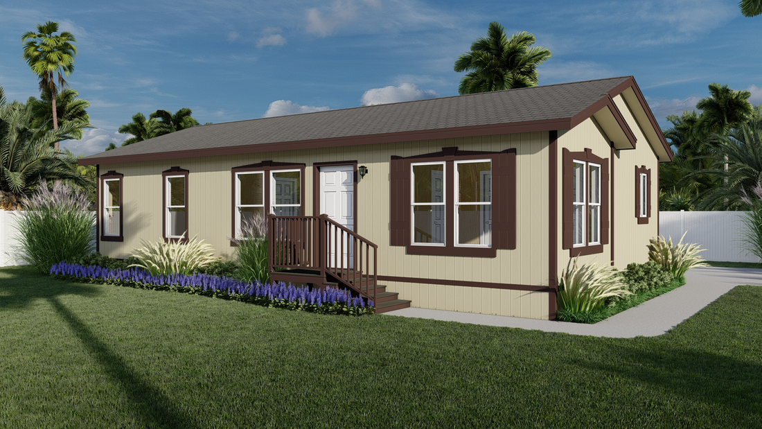The GPII-2444-2B  CARDIFF Exterior. This Manufactured Mobile Home features 2 bedrooms and 2 baths.