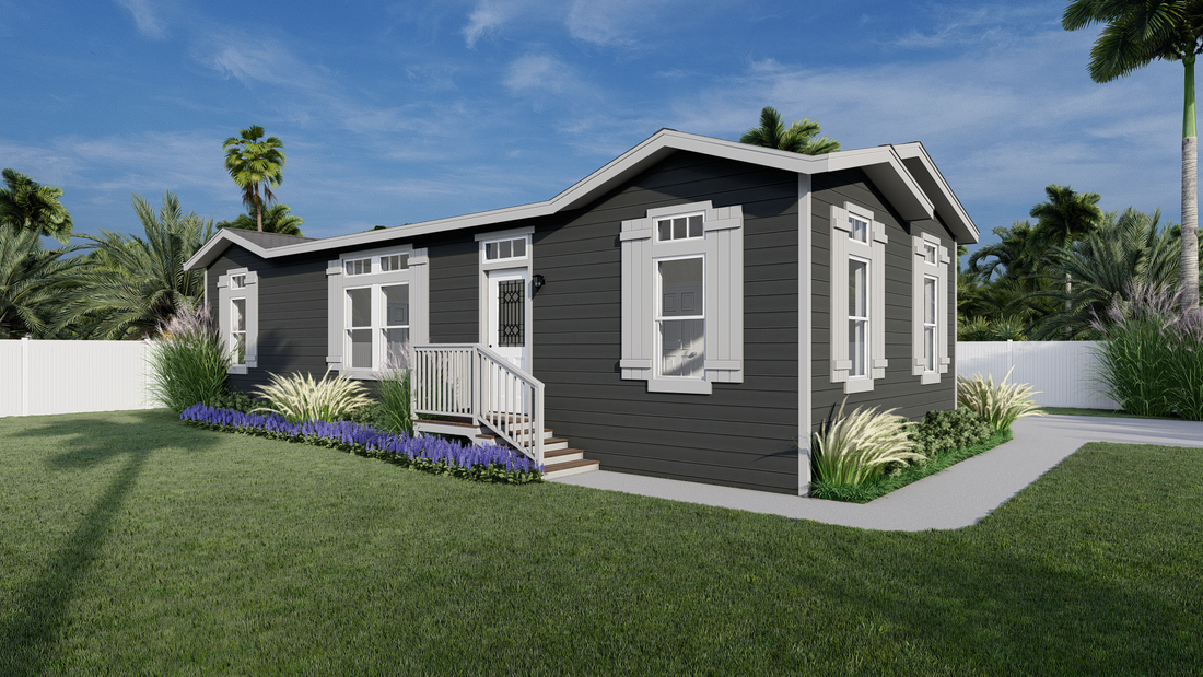 The GPII-2048-3B  OCEANO Exterior. This Manufactured Mobile Home features 3 bedrooms and 2 baths.
