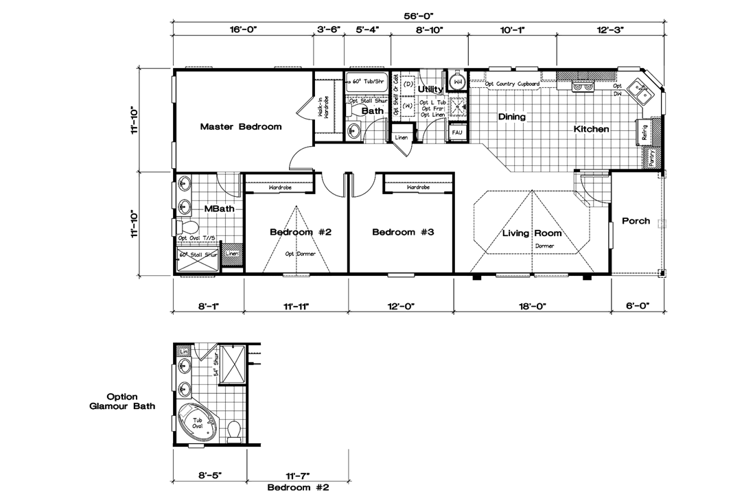The GLE561A Floor Plan
